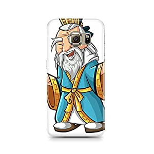 Motivatebox - Samsung S6 Edge Plus Back Cover - Drawn Wise Man Polycarbonate 3D Hard case protective back cover. Premium Quality designer Printed 3D Matte finish hard case back cover.