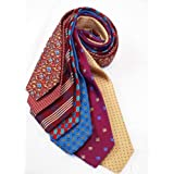 7Piece 100% Pure Silk Ties. Made in England. (243D)RRP£139.99