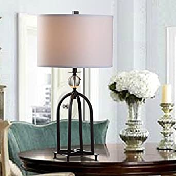 Crf Vintage Metal Table Lamp Living Room Simple Crystal Decorative Lamp