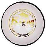 KDM Sports Leather Ball (White)