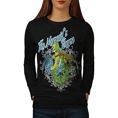 Il Mermaids Maledizione Drago Da donna Nuovo Nero XL T-Shirt Manica Lunga | Wellcoda