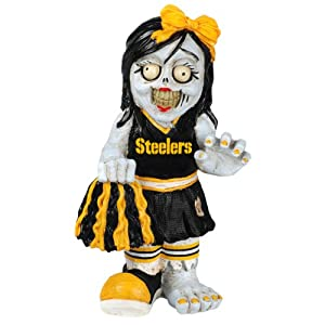NFL Pittsburgh Steelers Cheerleader Team Zombie Figurine by Forever Collectibles