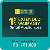 Onsite Secure 1 Year Extended Warranty for Small Appliances (Rs 0 - 1000)