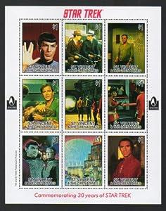 star trek 30th anniversary stamp set