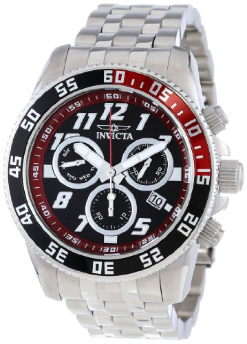 Invicta Men's 14509 Pro Diver Chronograph Black Dial Stainless Steel Watch