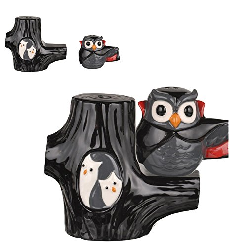Vampire Owl Magnetic Salt & Pepper Shaker Set