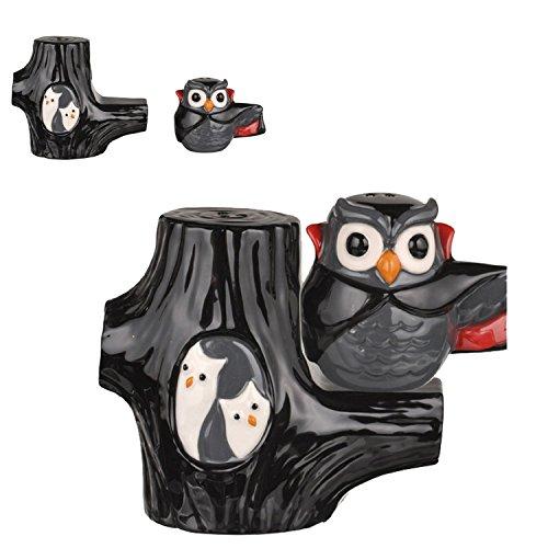Vampire Owl Magnetic Salt & Pepper Shaker Set