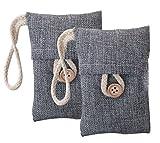 Attmu Natural Air Purifying Bag Bamboo Charcoal Bag, 100g X 2 Pack