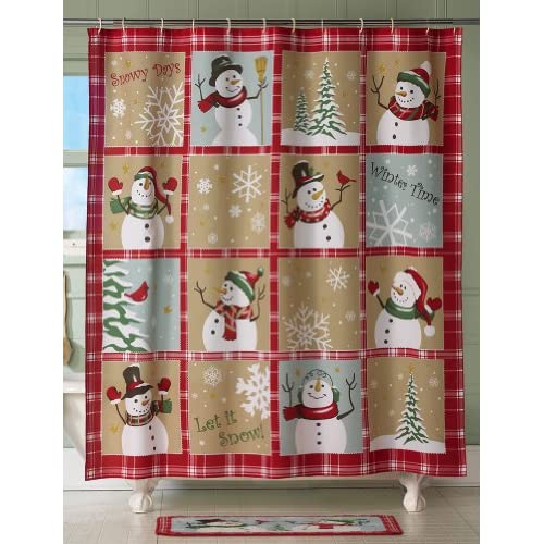 Amazon.com - Snow Time Country Snowman Holiday Shower Curtain By