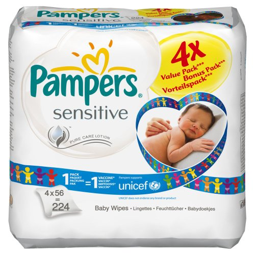Pampers Feuchte Tcher Sensitive Vorteilspack, 224 Tcher