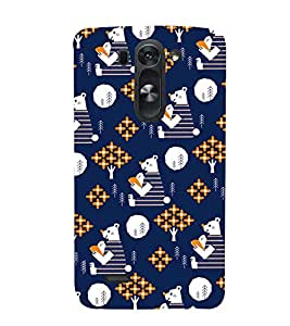 BLUE KIDDISH TEDDY BEAR PATTERN 3D Hard Polycarbonate Designer Back Case Cover for LG G3 Beat :: LG G3 Vigor :: LG G3s :: LG g3s Dual