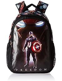 Captain America Nylon 48 Cms Black Children's Backpack (MBE-WDP0525)