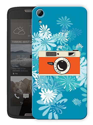 Camera Daisy Printed Designer Mobile Back Cover For HTC Desire 828 By Humor Gang (3D, Matte Finish, Premium Quality, Protective Snap On Slim Hard Phone Case, Multi Color)