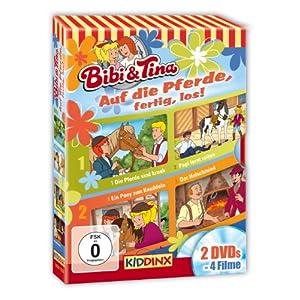Bibi und Tina - Auf die Pferde, fertig, los!: Die Pferde sind krank/Papi lernt reiten/Ein Pony zum Knuddeln/Der Hufschmied [2 DVDs]