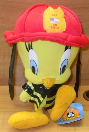 Tweety Bird Fire Fighter Looney Tunes Plush