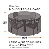 Classic Accessories 55-158-045101-EC Ravenna Round Patio Table and Chair Cover, Large, Taupe