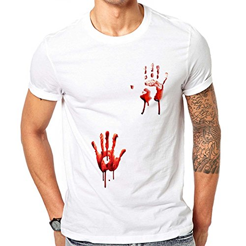 GullPrint Men's Halloween Blood Hands T Shirt