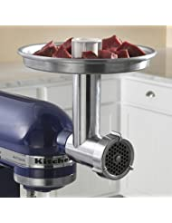 Chefs Choice Meat Grinder Attachment for Kitchen Aid by EdgeCraft