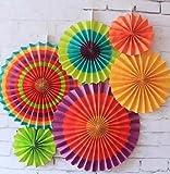 SUNBEAUTY-Paquete-de-6-abanicos-de-papel-multicolor-21cm-31cm-42cm-decoracin-para-celebracin-fiesta-cumpleaos-boda