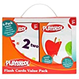 Playskool Flash Cards  - 4 Sets of Flash Cards (Alphabet, Numbers, Colors and Shapes, First Words) - Packaging May Vary (Tamaño: 4 Pack)