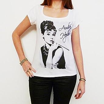 Audrey Hepburn : T-shirt Femme imprimé célébrité ONE IN THE CITY - Blanc, S