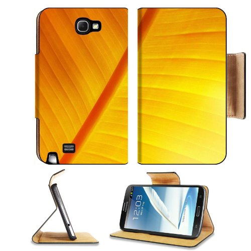 Macro Shot An Orange Leaf Vein Lines Autumn Fresh Samsung Galaxy Note 2 N7100 Flip Case Stand Magnetic Cover Open Ports Customized Made To Order Support Ready Premium Deluxe Pu Leather 6 1/16 Inch (154Mm) X 3 5/16 Inch (84Mm) X 9/16 Inch (14Mm) Liil Note