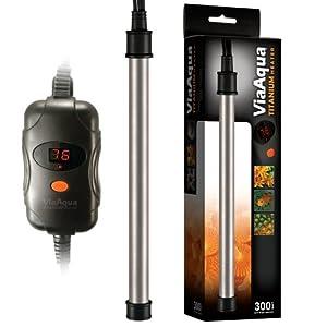 ViaAqua Titanium Aquarium Heater, 300-Watt