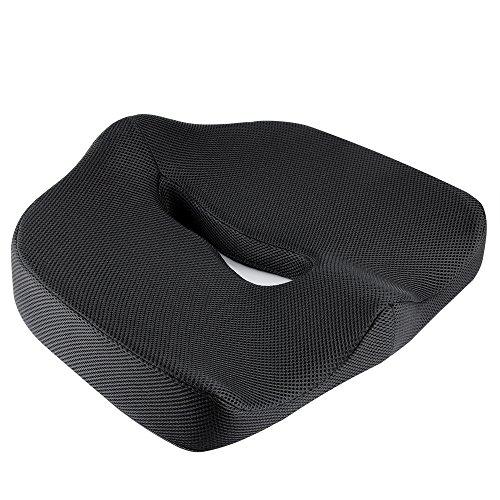IKSTAR 第三世代ヘルスケア座布団 低反発 腰痛対策 骨盤サポート 姿勢矯正 健康クッション (ブラック)