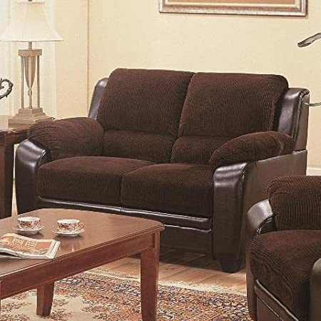 Coaster Home Furnishings 502812 Casual Loveseat, Chocolate