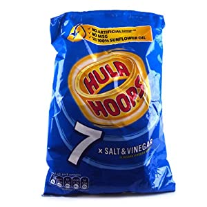 KP Hula Hoops Salt and Vinegar 7 Pack 150g