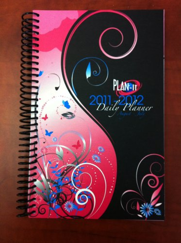 2011-2012 Daily Fashion Day Planner Organizer Agenda (August 2011 Through July 2012)- Pink Passion