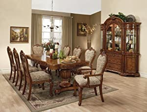 Formal dining room table collection 9 piece for 9 piece formal dining room sets