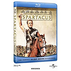 Spartacus starring Tony Curtis (Blu-Ray).
