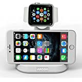 VersionTech Charging Station Dock Stand for Apple Watch iWatch Built-in Insert Slots with iPhone Stand