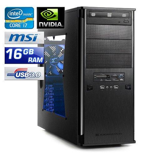 PC - CSL Speed A19953 (Core i7) - Gaming QuadCore! PC-System mit Intel Core i7-3770 4x 3400 MHz, 2000GB SATA, 16384MB DDR3, GeForce GT 630 4096MB, DVD-RW, CardReader, 5.1 Sound, GigLAN, USB 3.0