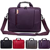 BRINCH(TM) 15.6 inch New Soft Nylon Waterproof Laptop Computer Case Cover Sleeve Shoulder Strap Bag with Side Pockets Handles and Detachable for Macbook Pro Retina 15 inch Mini Asus/DELL/HP/Samsung ,Colour Purple