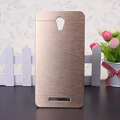 EKINHUI Xiaomi Hongmi Redmi Note 2 Case, Custodia duro di lusso ibridi metallici per Xiaomi Redmi Note 2(Gold)