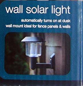 Garden Outdoor Wall Solar Light Automatic Turn On At Dusk No Wiring X 2 by Kingfisher