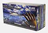 Adenna Dark Light 9 mil Nitrile Powder Free Exam Gloves (Black, XX-Large)