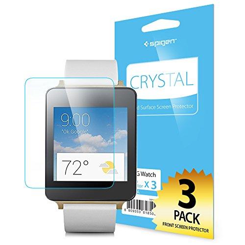 LG G Watch Spigen  液晶 保護 フィルム 3枚入り  [高い 透明度] G Watch [国内正規品] (クリスタル・クリア)