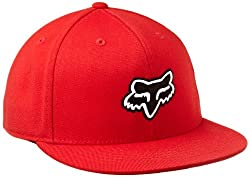 Fox Men's The Steez Fitted Hat By Flexfit, Red, Small/Medium