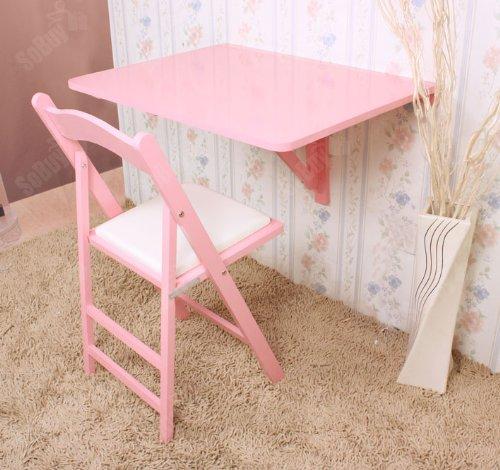 Sobuy tavolo da muro pieghevole in legno 75 60cm colore rosa so fwt01 p - Tavolo da muro pieghevole ...