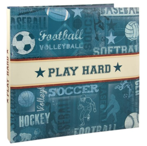 Karen Foster Design Themed Scrapbooking Album, 12Inch by 12Inch, Sports Picture