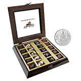 Chocholik Belgium Chocolate Gifts - Occasional Flavor Chocolate Box With 5gm Pure Silver Coin - Diwali Gifts