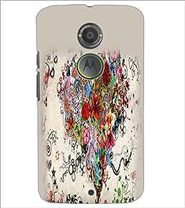 PrintDhaba Heart D-2156 Back Case Cover for MOTOROLA MOTO X2 (Multi-Coloured)