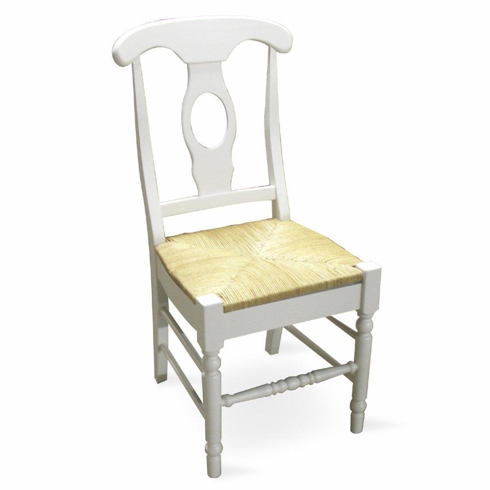 Pottery Barn Napoleon Rush Seat Chair  Decor Look Alikes