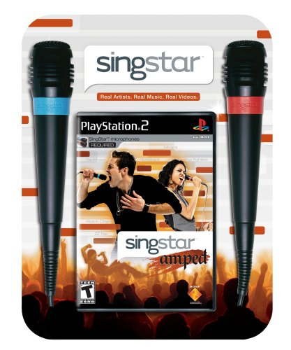 51Cse7e3YaL Reviews SingStar Amped Bundle (Includes 2 Microphones)