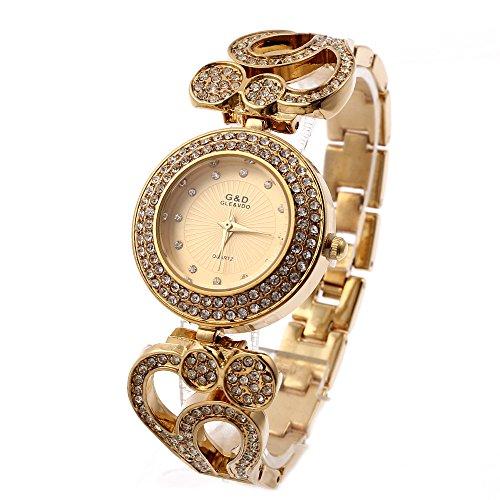 Sheli fahion tutti i piccoli, Bling Diamanti Placcato oro Bracciale con cinturino floreale Progettato per le donne