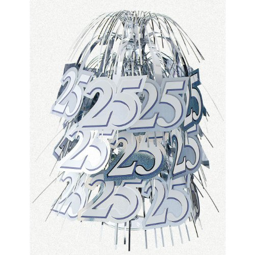 25th Wedding Anniversary 'Silver Wishes' Cascade Centerpiece (1ct)
