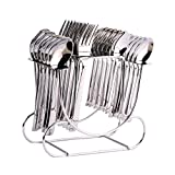 Shapes Triple Dot Cutlery Set Of Spoons And Fork 24 Pcs. With Round Stand